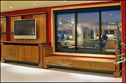 Mahogany Entertainment Unit and Bench