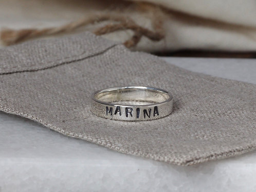 WIDE NAME RING