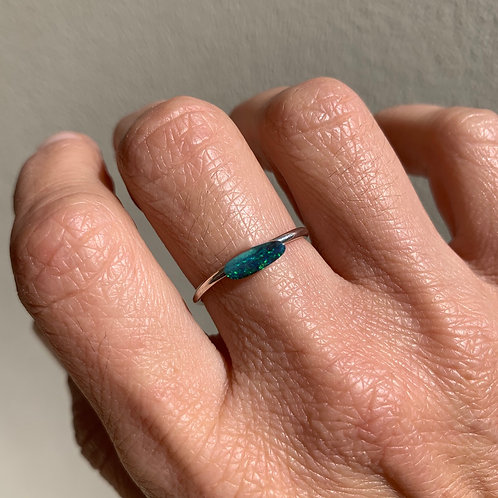 OPAL #32 INCLUDING RING IN STERLING SILVER