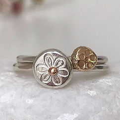 Daisy Ring and Jasmine Ring in Sterling