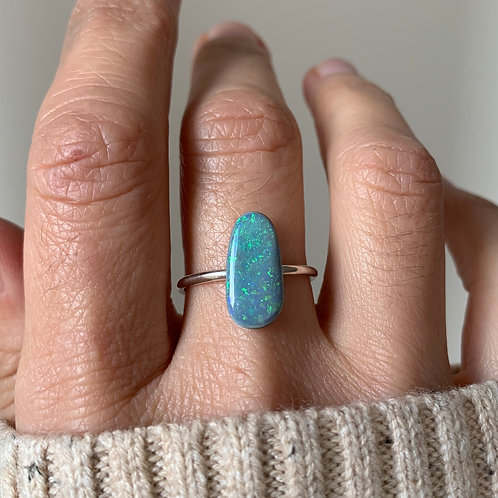 OPAL #1 INCLUDING RING IN STERLING SILVER