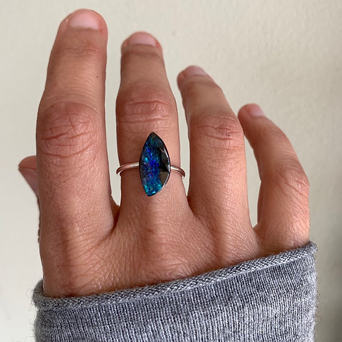 OPAL #37 INCLUDING RING IN STERLING SILVER