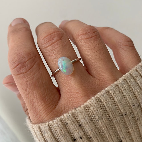 OPAL #11 INCLUDING RING IN STERLING SILVER