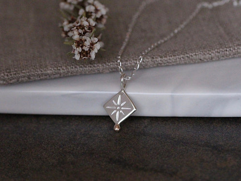 CELESTIAL STAR NECKLACE WITH 9KT GOLD DETAIL