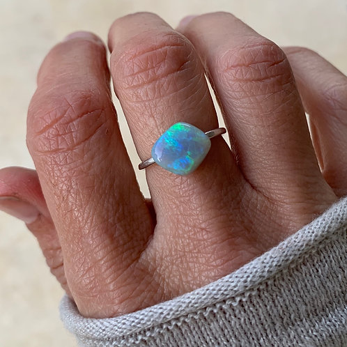 OPAL # 7 CUSTOM INCLUDING STERLING SILVER RING SETTING