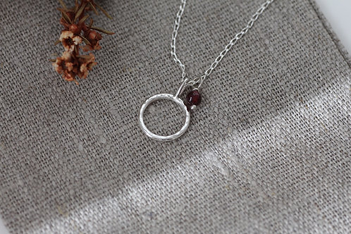 OLIVIA NECKLACE WITH CHOICE OF GEMSTONE BEAD