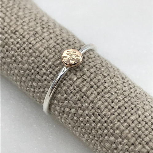 JASMINE RING WITH 9KT GOLD DETAIL