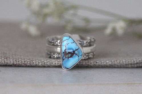 GOLDEN HILLS TURQUOISE RING WITH STACKERS - SIZE 6-7