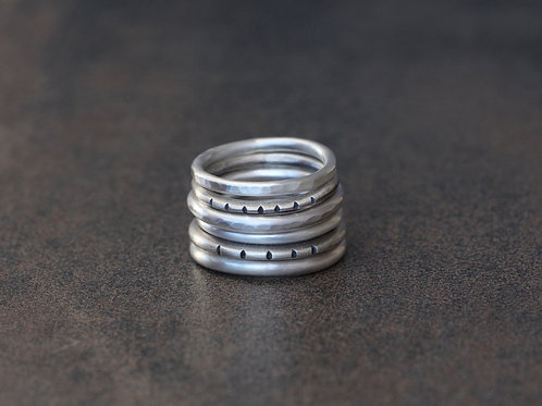 RUSTIC STACKING RING COMBINATIONS