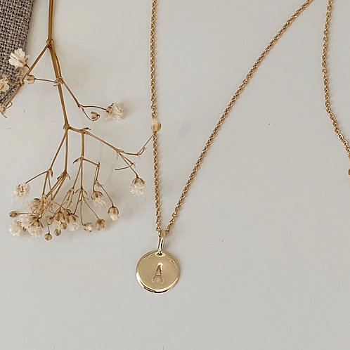 9KT GOLD INITIAL NECKLACE
