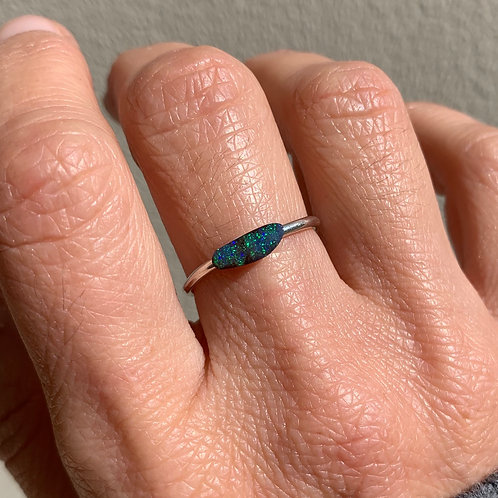 OPAL #31 INCLUDING RING IN STERLING SILVER