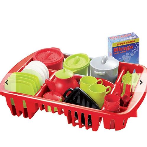 Secador de platos con accesorios