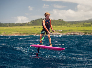 13-YEAR OLD ON HYDRO FOIL SUP ALMOST BEATS UNLIMITED SUP EXPERTS IN BLUESMITHS PADDLE IMUA