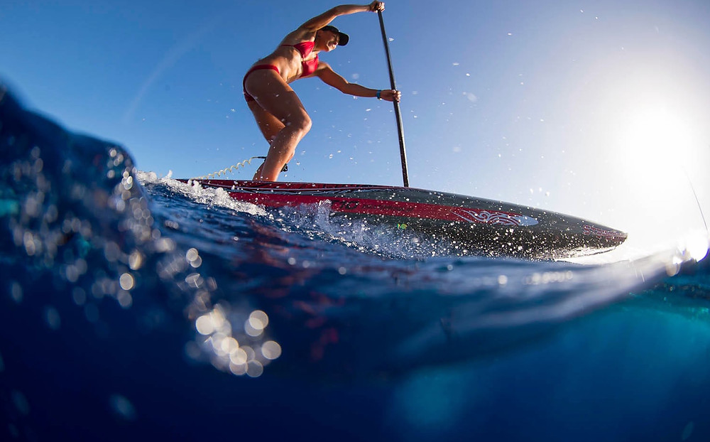 Photo: Ben Thouard - Annabel Anderson on the water in Tahiti