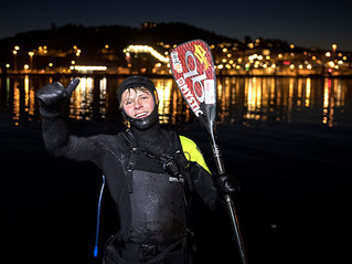 CASPER STEINFATH BECOMES FIRST PERSON TO PADDLE ACCROSS SKAGARRAK STRAIT FROM DENMARK TO NORWAY