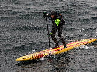 Casper Steinfath Risks His Life to Cross Skagerrak Strait on a SUP