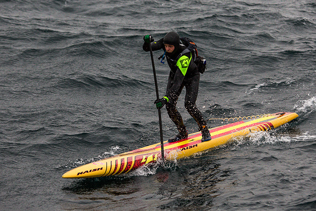 Casper Steinfath Risks His Life to Cross Skagerrak Straight on a SUP