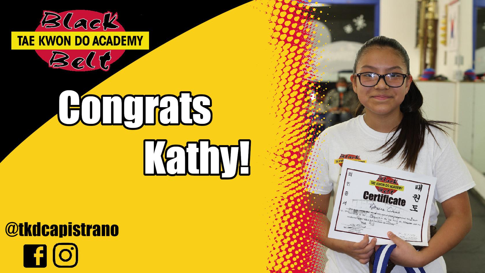Congrats Kathy!