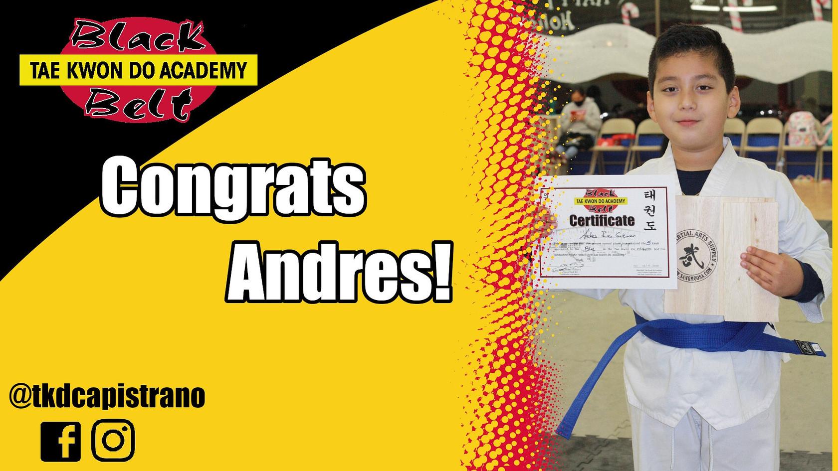Congrats Andres!