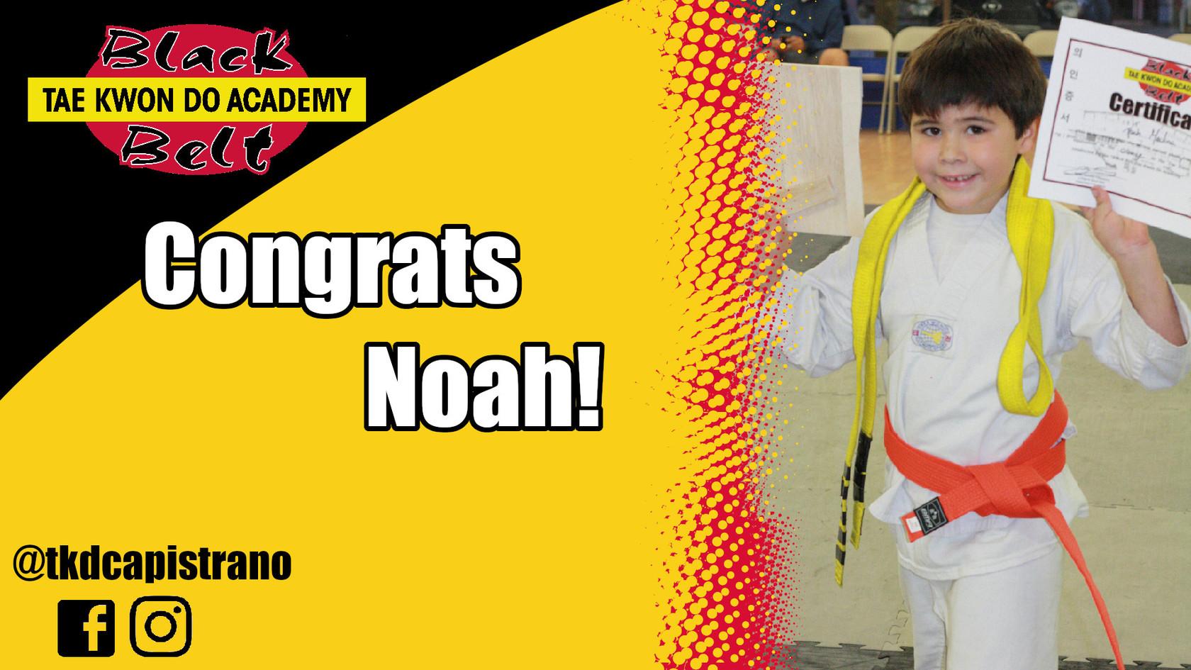 Congrats Noah