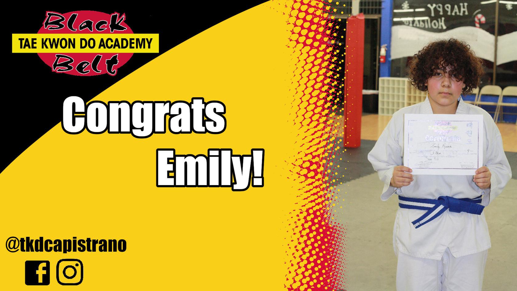 Congrats Emily!