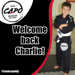 Welcome back Charlie!