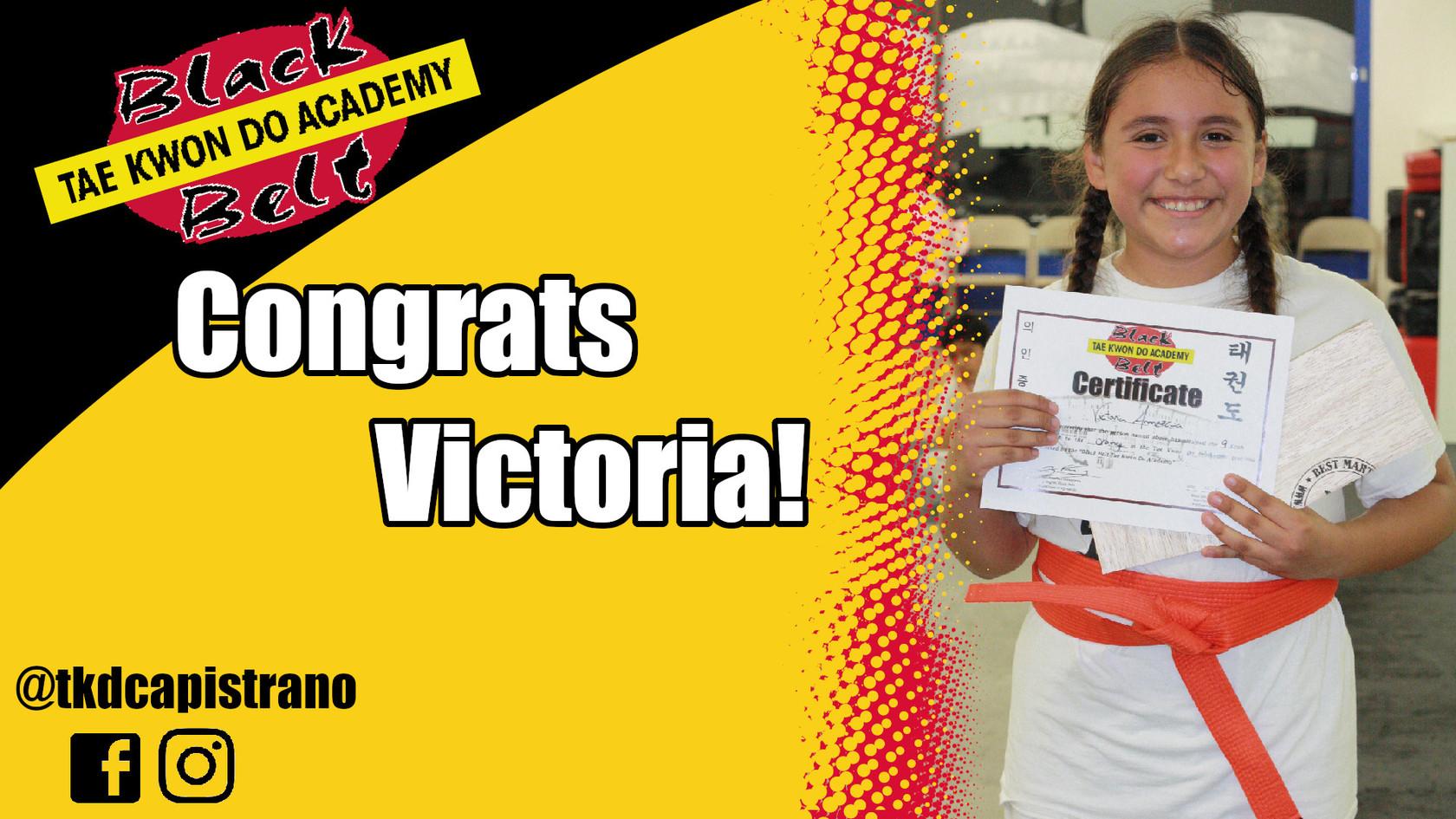 Congrats Victoria!