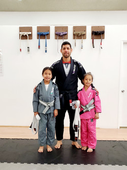 Yoltzin & Lyla Grey white belts