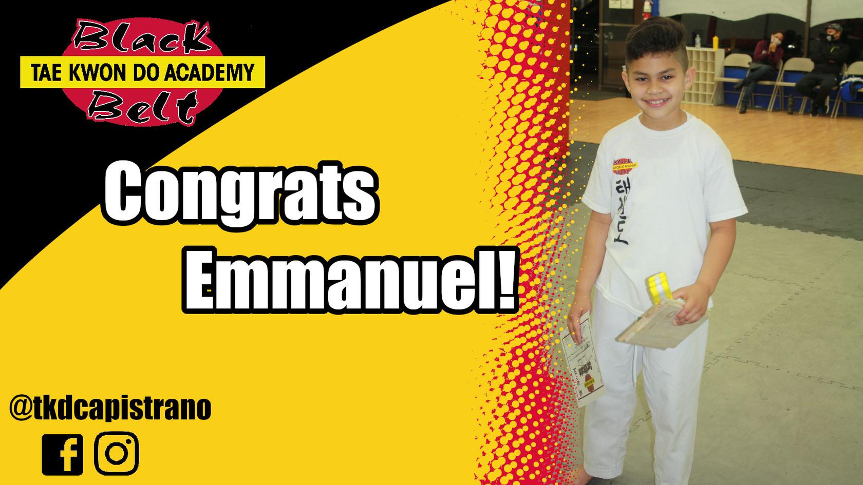 Congrats Emmanuel