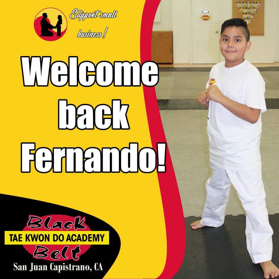 Welcome back Fernando!