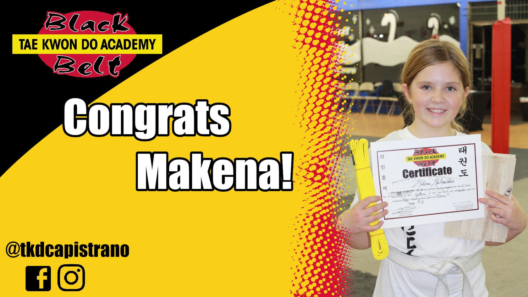 Congrats Makena