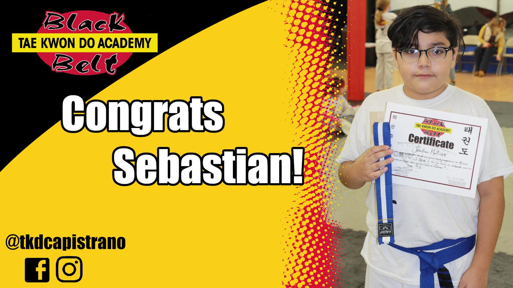 Congrats Sebastian!