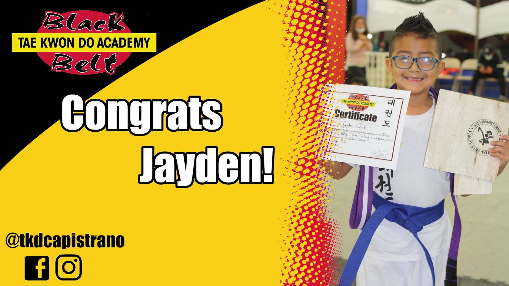Congrats Jayden!