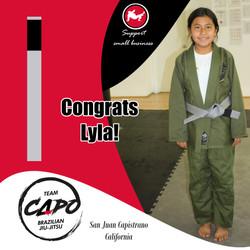 Congrats Lyla!
