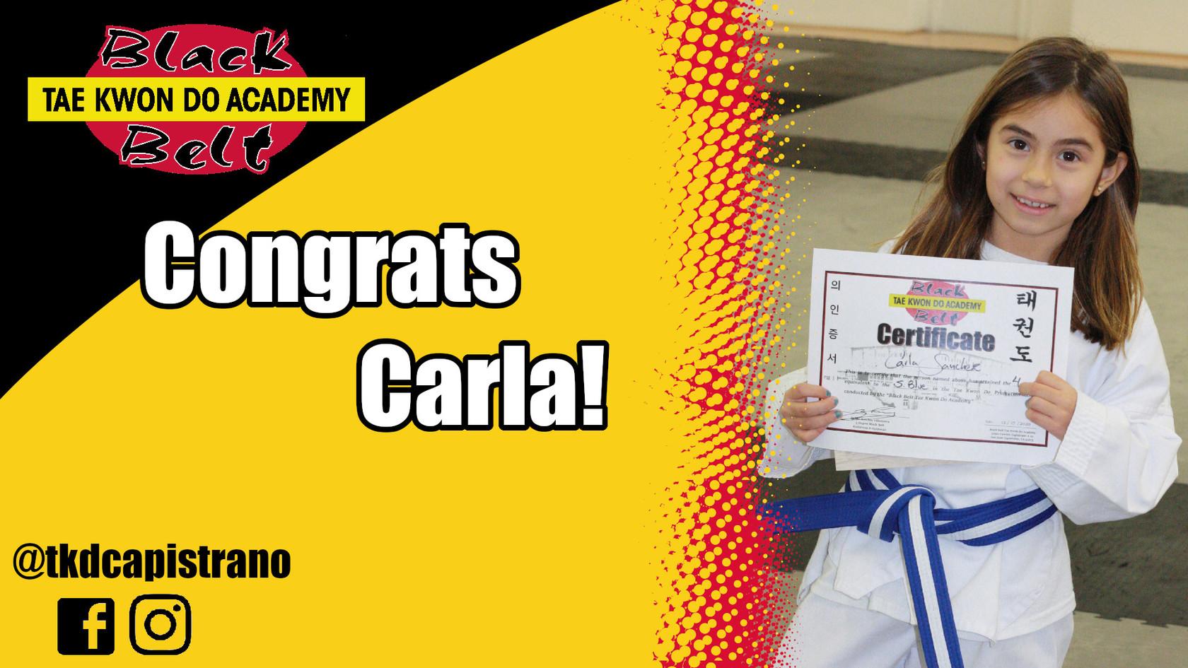Congrats Carla!