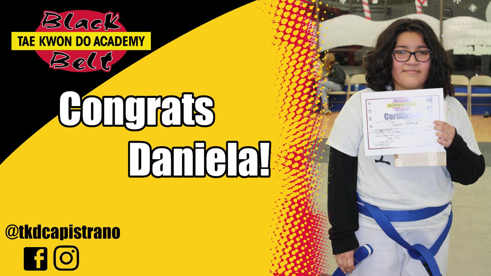 Congrats Daniela!