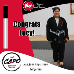 Congrats Lucy!
