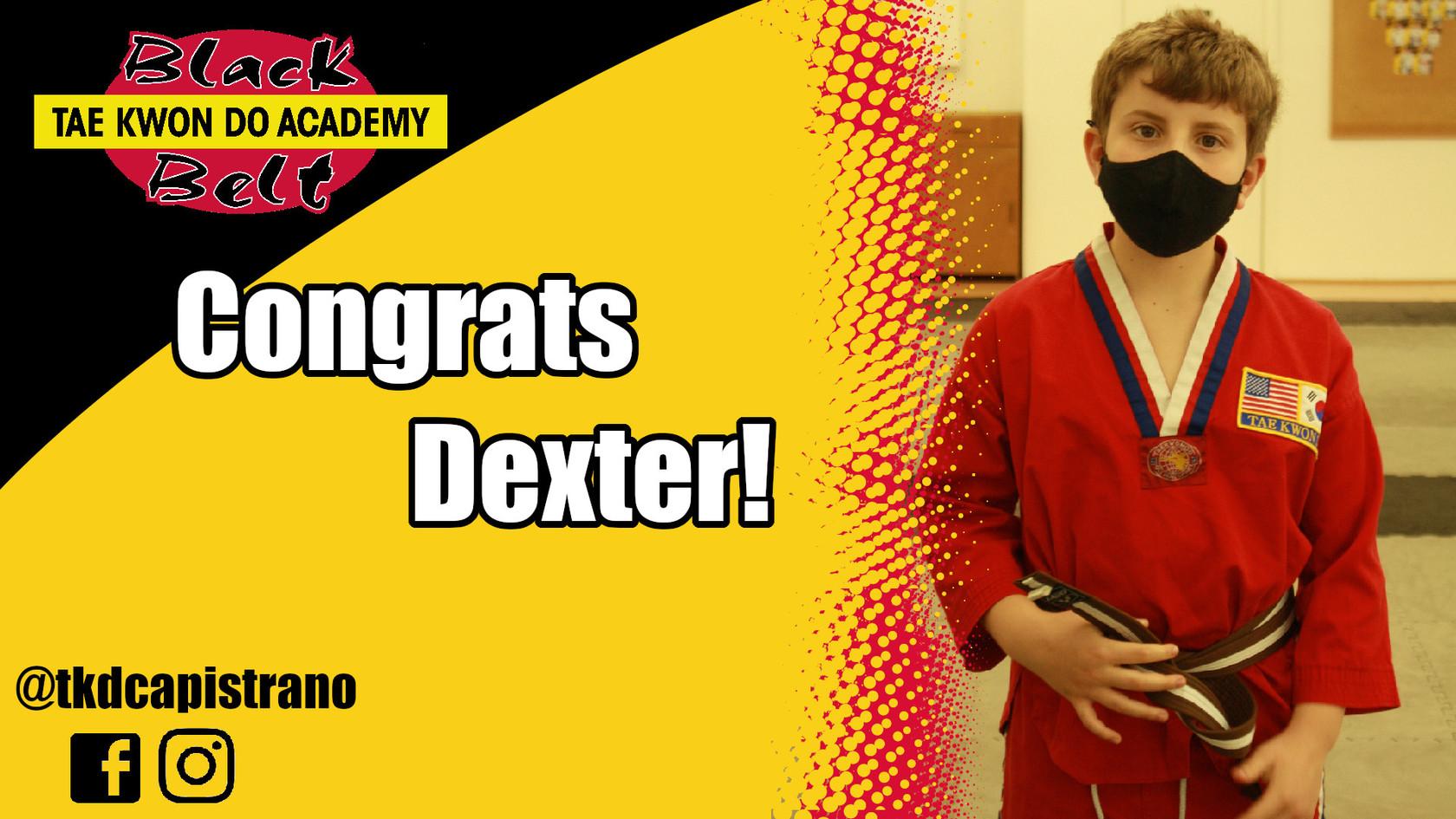 Congrats Dexter!