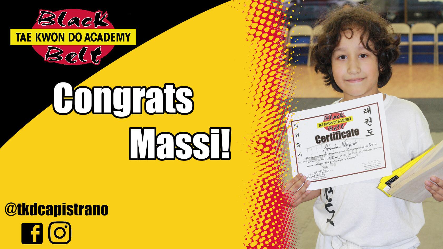 Congrats Massi!