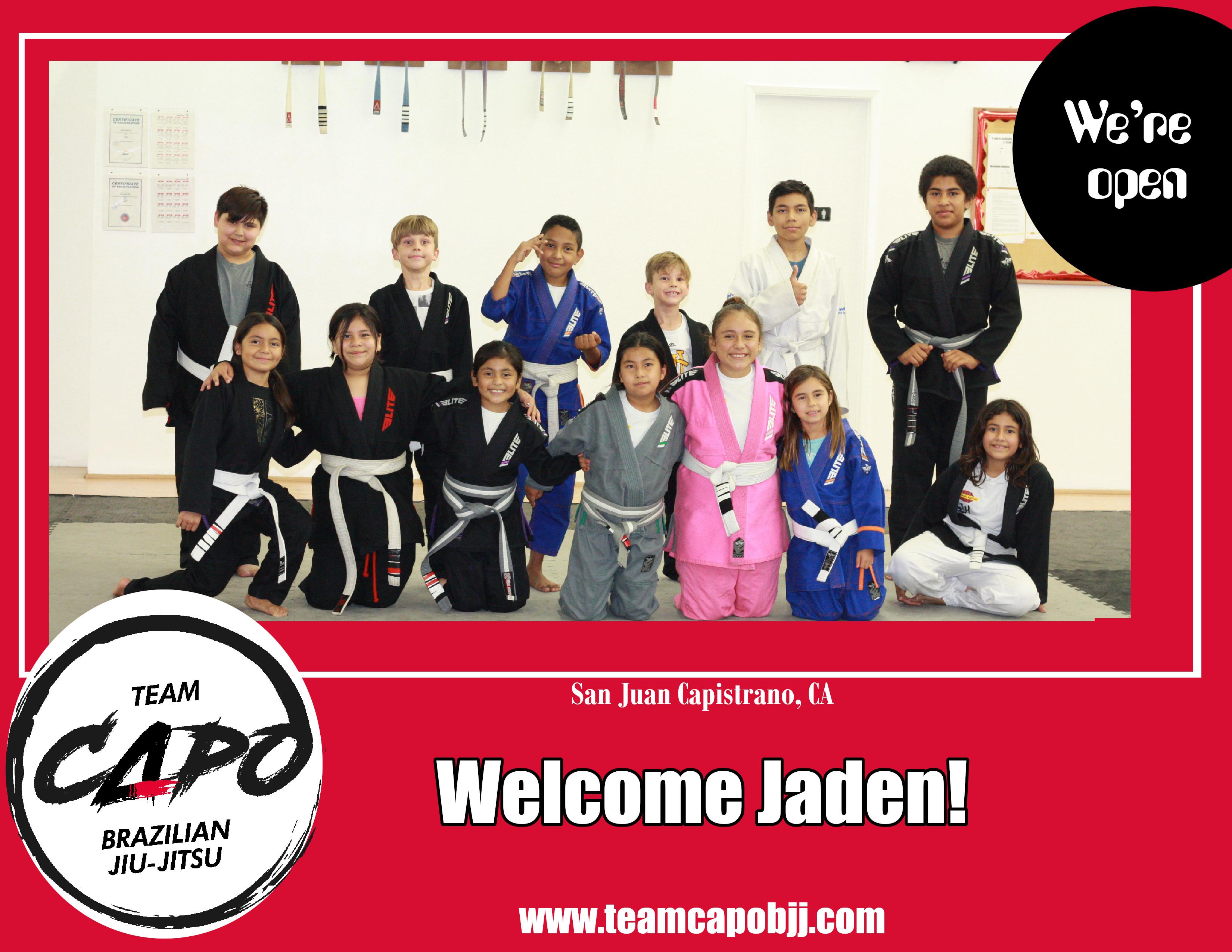 Welcome Jaden