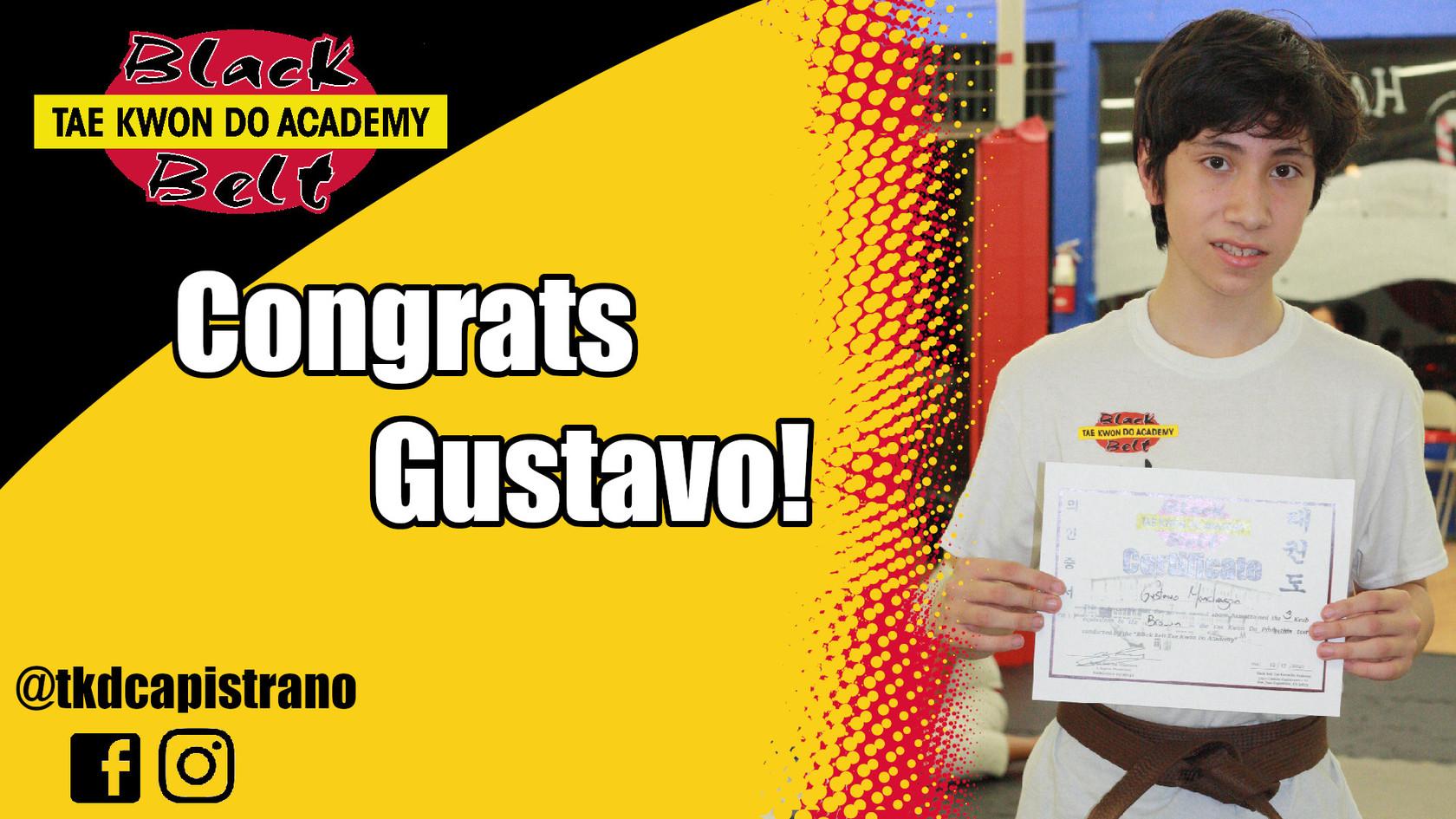 Congrats Gustavo!