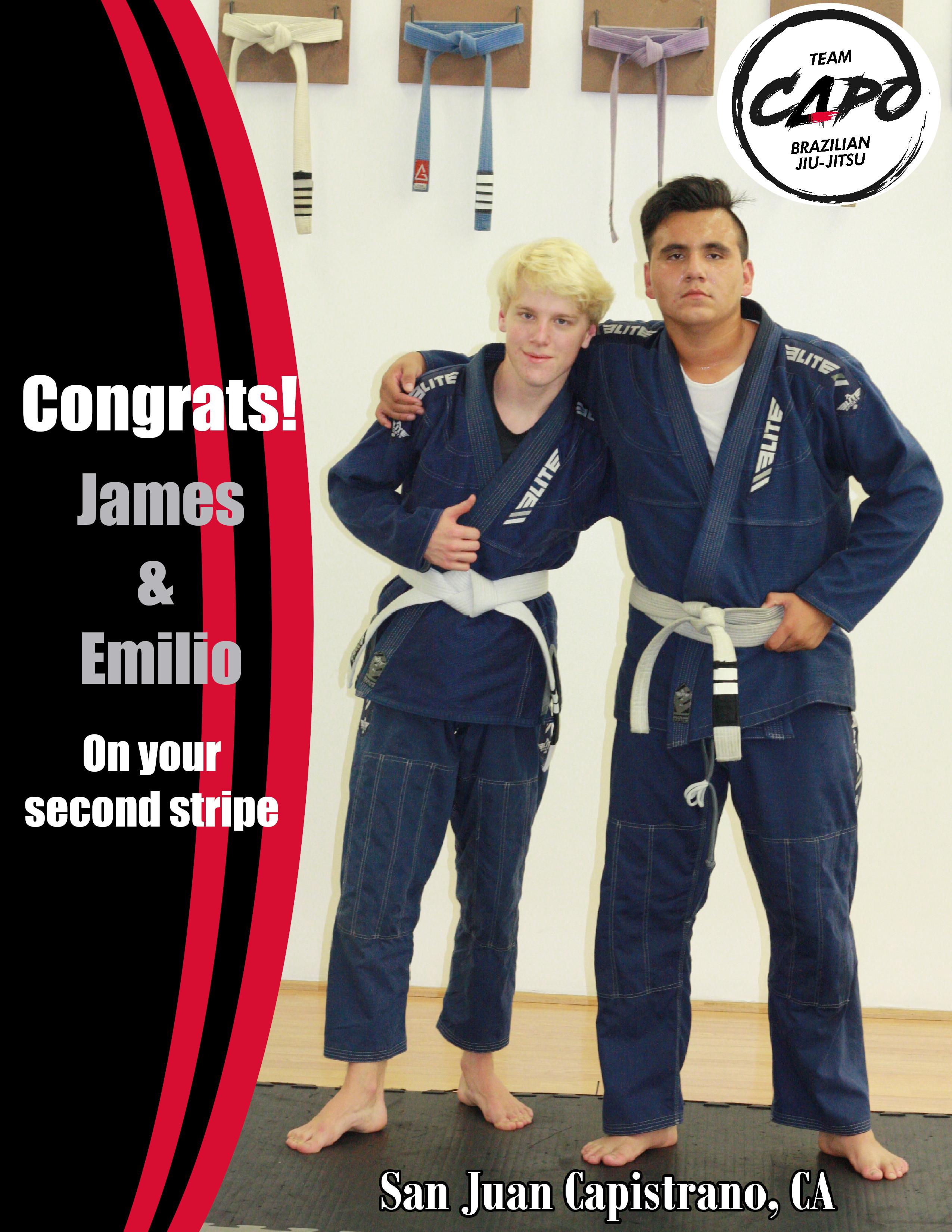Congrats Emilio & James