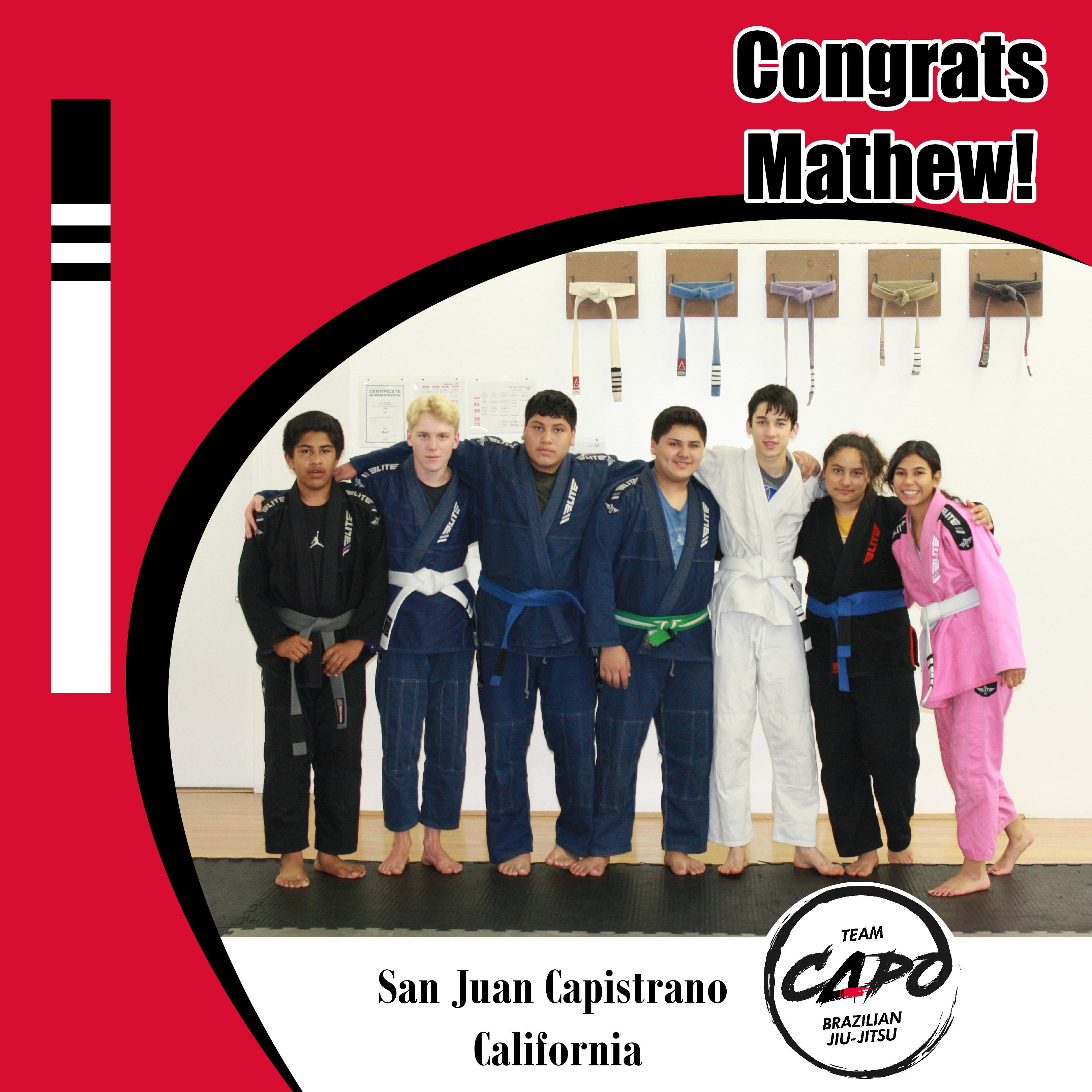 Congrats Mathew!