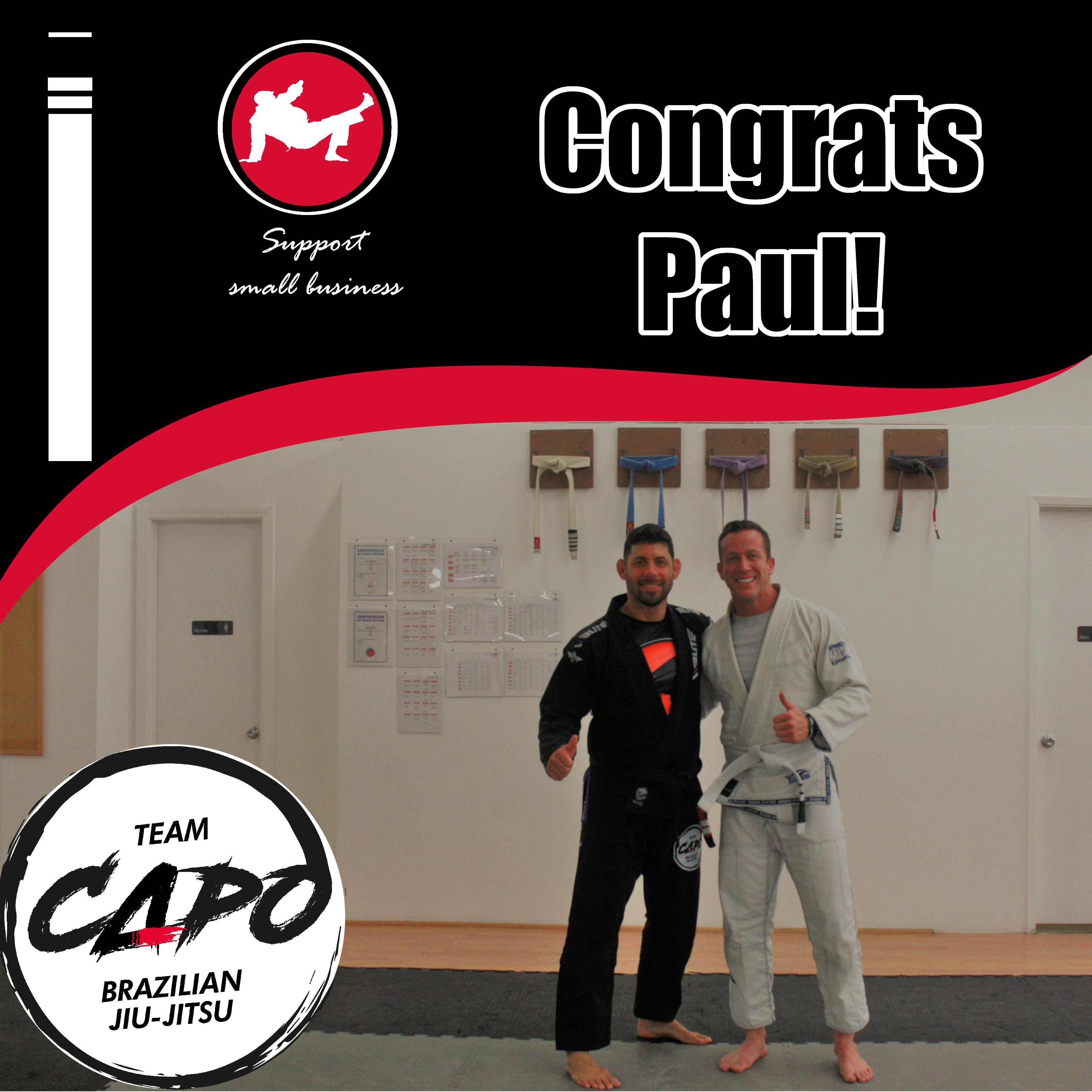 Congrats Paul!