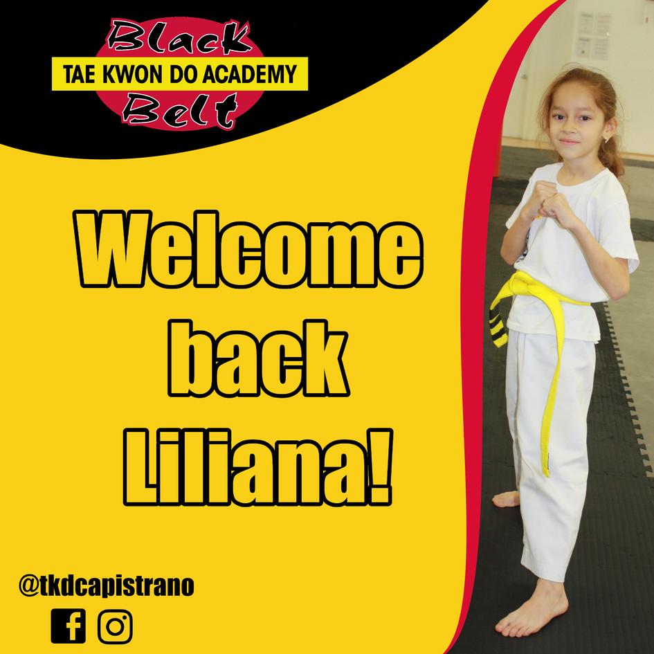 Welcome back Liliana!