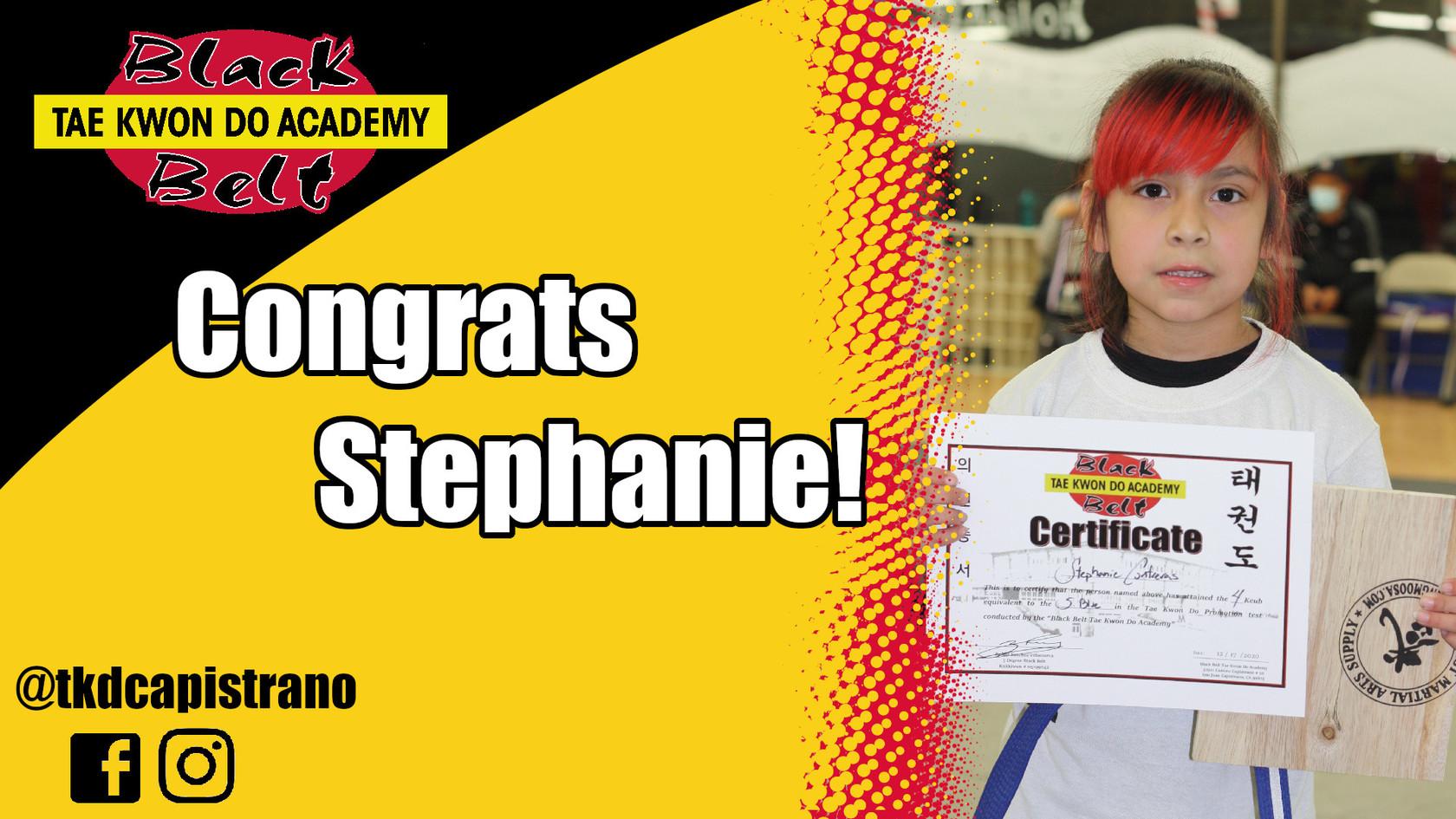 Congrats Stephanie