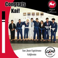 Congrats Kai!
