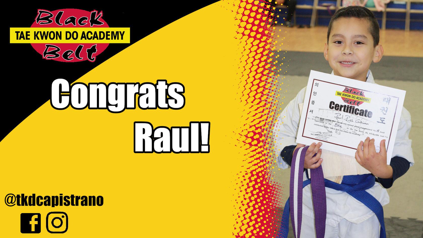 Congrats Raul!