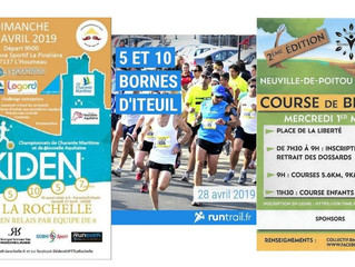 Ekiden La Rochelle - 10km Iteuil - 28/04/19 - Course de Bellefois - 1/05/19