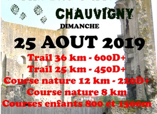 Trail des Châteaux - Chauvigny - 25/08/2019